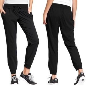 Old Navy Black Twill Stripe Jogger